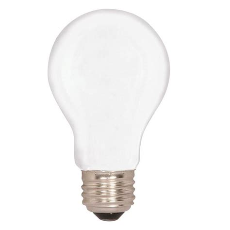 satco s4990 34w 130v a19 frosted e26 base incandescent