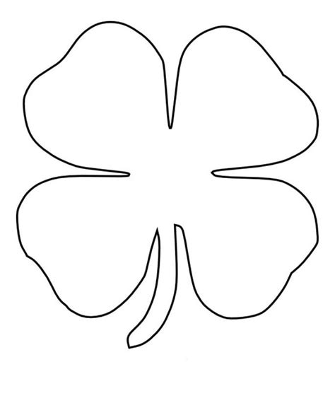 leaf clover page coloring pages