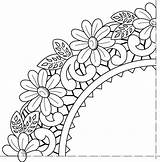 Flower Painting Patterns Embroidery Fabric Stencil Coloring Henna Disegni Decalcabili Visit Sheets Pikony Enregistree Depuis sketch template