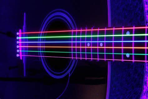 image gallery neon guitar