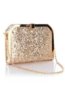 Glitter Gold Clutch Evening Bag