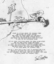 Shel Silverstein Where Sidewalk Ends Poems