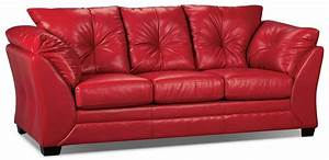 max faux leather full size sofa bed red the brick With full size leather sofa bed