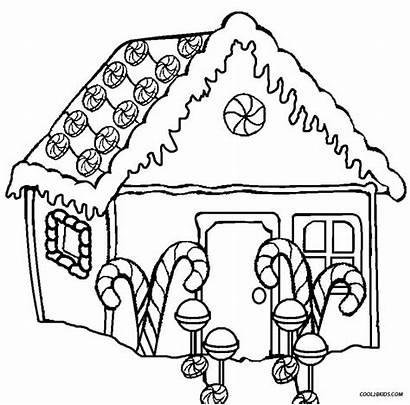 Gingerbread Coloring Pages Houses Printable