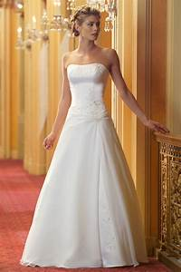 simple a line wedding dress with strapless neckline ipunya With simple dresses to wear to a wedding