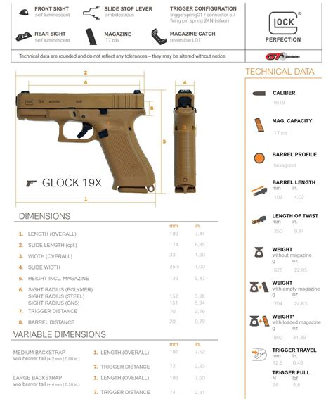 Glock 19X Specifications | The Weapon Blog