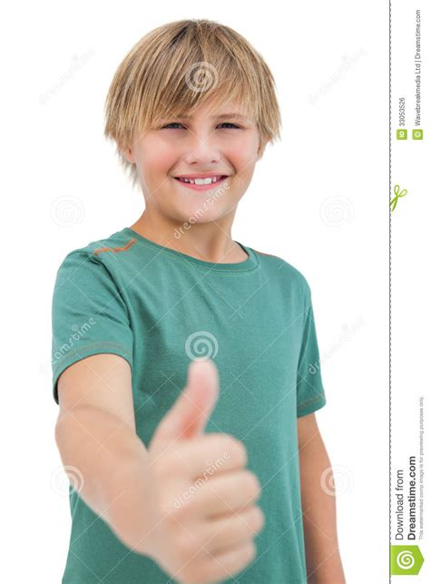 happy  boy giving thumbs  royalty  stock image