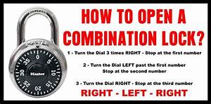 Which Way To Turn A Combination Lock To Open  Right