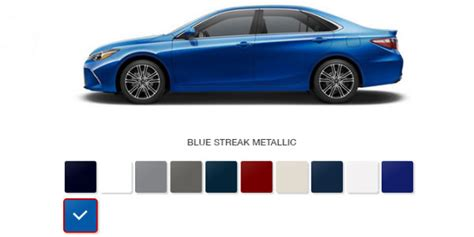 What Are The 2016 Toyota Camry Color Options?