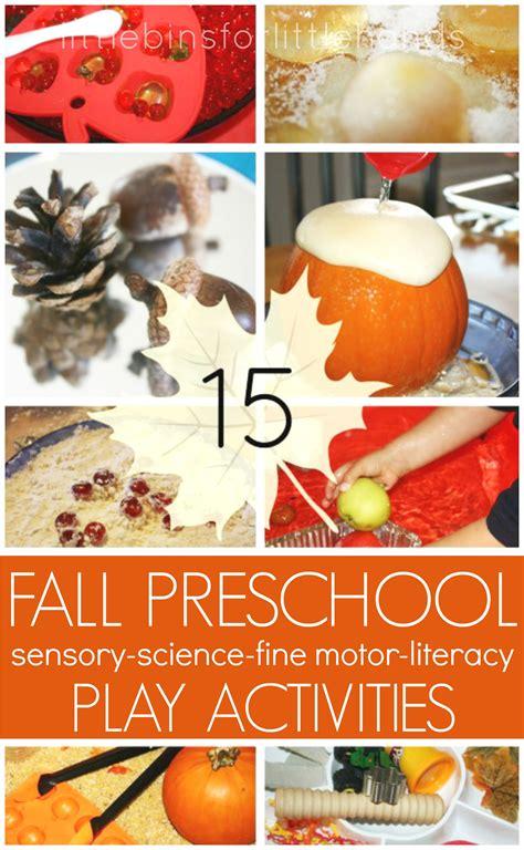 fall literacy activities for preschool fall sensory play activities for fall preschool theme 937