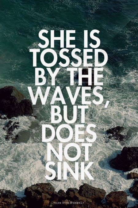 tossed   waves    sink sarah