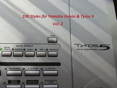 yamaha genos gebraucht yamaha tyros 2 mit 80 gb festplatte ohne boxen mit zubeh 246 r tasche st 228 nder eur 630 00