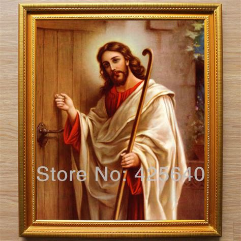 jesus knocking at the door painting aliexpress buy jesus knocking at the door