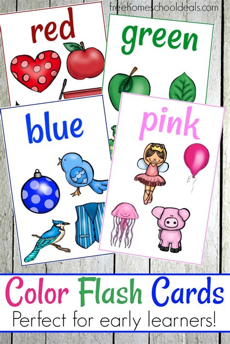 Free Color Flash Cards (instant Download)  Free Homeschool Deals