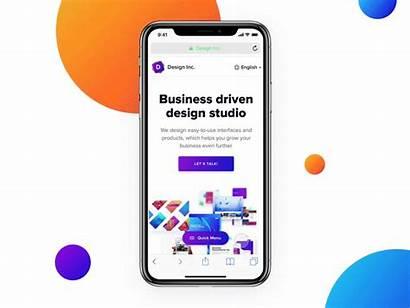 Iphone Web Navigation Dribbble Website Idea Report