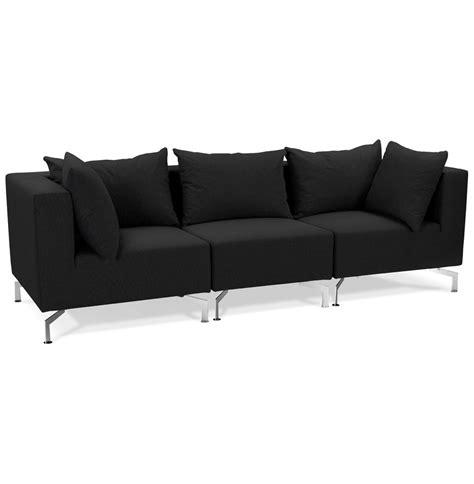 canapé voltaire 3 places canapé modulable voltaire noir canapé design