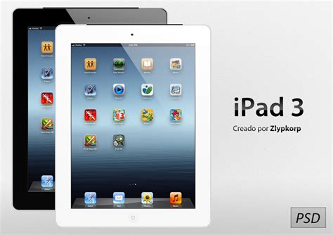 Apple iPad 3 PSD by Zlypkorp on DeviantArt