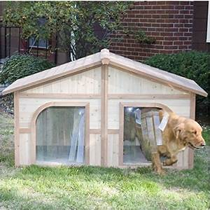 extra large solid wood dog houses suits two dogs or 1 With outdoor dog houses for extra large dogs