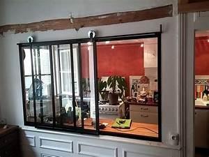 fenetre interieure coulissante hh76 jornalagora With separation en bois deco interieure