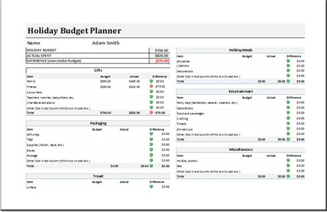 travel budget template xlsx holiday budget planner budget template free