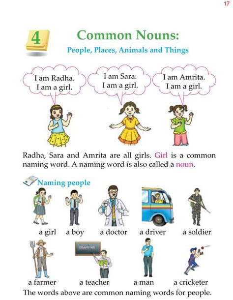 Good Grammar » 1st Grade Grammar Common Nouns 1