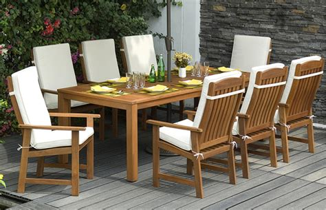 seater dining set  cushions outdoor furniture