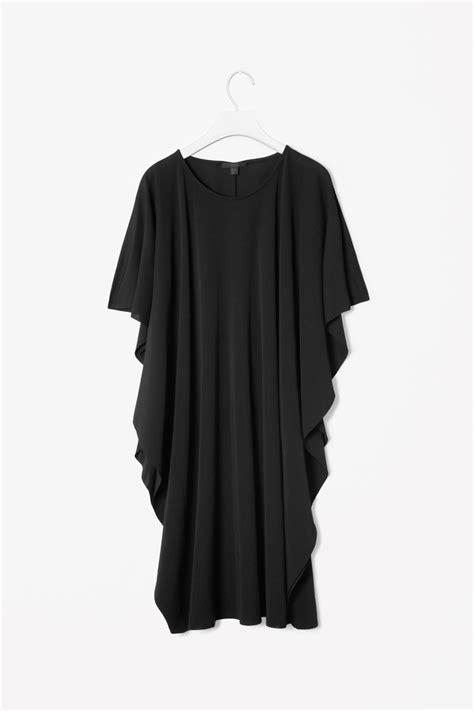 draped sleeve dress cos draped sleeve dress in black lyst