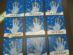 handprints i made for the parents in my preschool class as a gift for christmas adult crafts