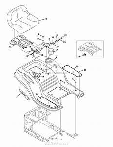 Troy Bilt 13wv78ks011 Bronco  2015  Parts Diagram For Seat