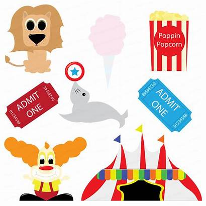 Circus Carnival Clip Clipart Cliparts Panda Tent