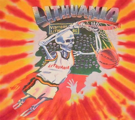 vintage  grateful dead lithuania olympic basketball tee