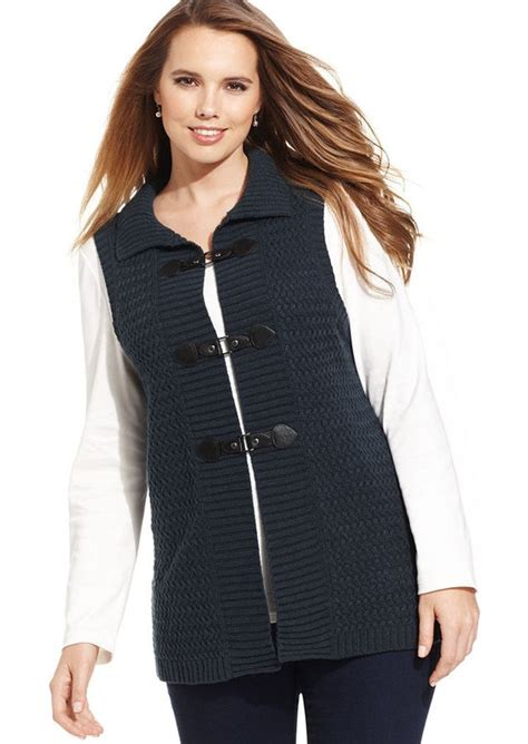 style and co sweaters style co style co plus size cable knit sweater vest