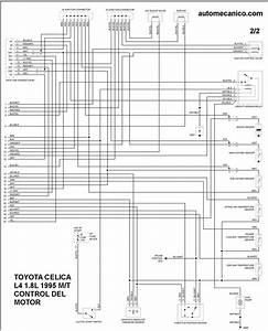 Toyota Diagramas Control Del Motor 1995 Celica  Corolla