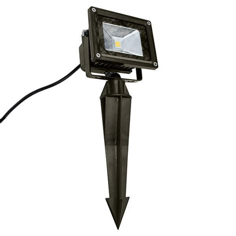 in ground led light fixtures 30 watt led flood light fixture with ground stake