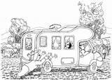 Caravan Coloring Pages Mud Picolour sketch template