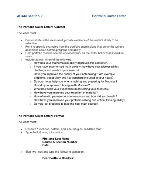 Cover Letter Sle For Portfolio by Portfolio Cover Letter Exle Icebergcoworking