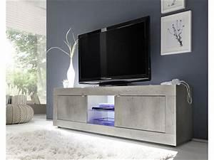 Meuble Tele Gris : meubles tv hifi ~ Teatrodelosmanantiales.com Idées de Décoration
