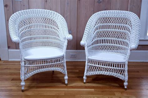 Antique Victorian Wicker Rolled-arm Chairs For Sale At 1stdibs