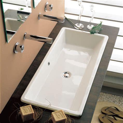 Modern Drop In Bathroom Sinks by Built In Ceramic Bathroom Sink By Scarabeo Modern