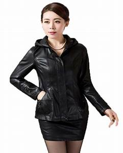 OAIRED Plus size Leather Jacket Women 2017 New Leather ...