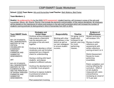 worksheet goals and objectives worksheet grass fedjp