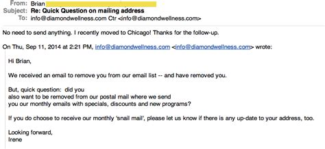 Follow Up Email Sle To Client by Exact Email Quot Follow Up Quot When Clients Opt Your Email