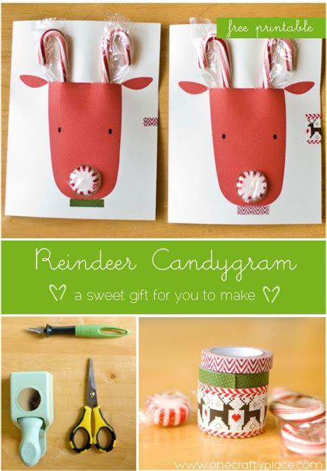 diy super cute reindeer christmas cards  candy