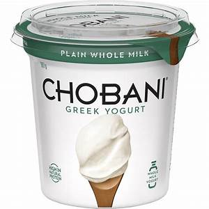 Chobani Greek Yoghurt Plain Whole Milk 907g | Woolworths