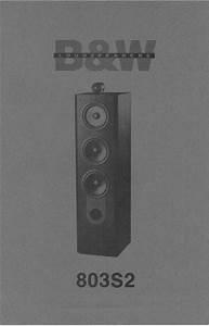 Bowers  U0026 Wilkins B U0026w-803-s2   Matrix   Service Manual