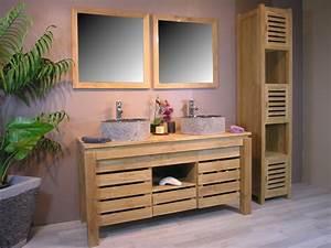 cuisine salle de bain en bois exotique meuble de salle With meuble de salle de bain en bois exotique pas cher