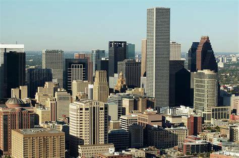 Houston Skyline Hd Wallpaper Usa Texas Houston Dwontown Aerial View Photograph By George Doyle