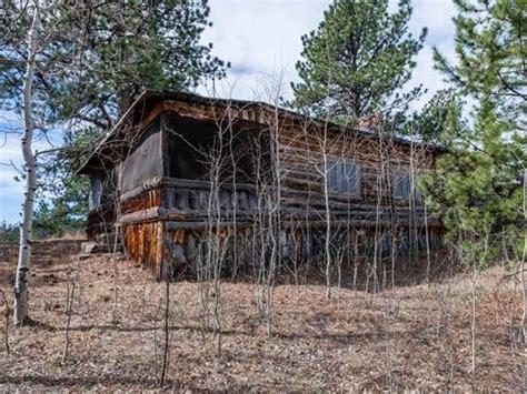 tiny grid colorado log cabin sale originally built