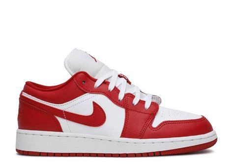 Air Jordan 1 Low Gs Gym White Red 553560 611 Sepshoe