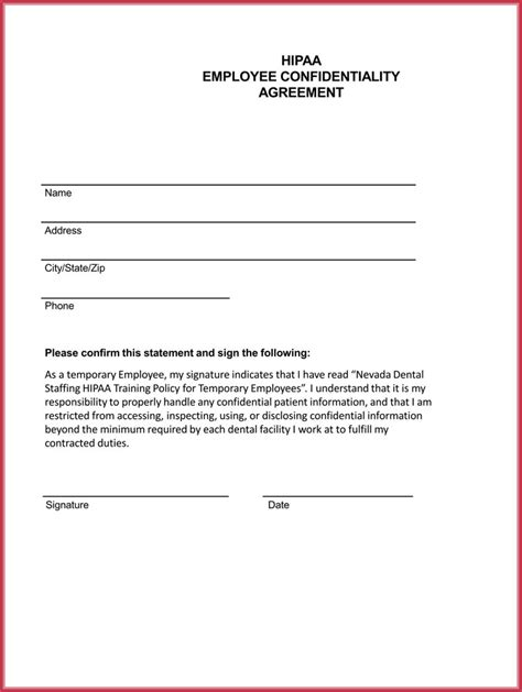 employee confidentiality agreement   professional